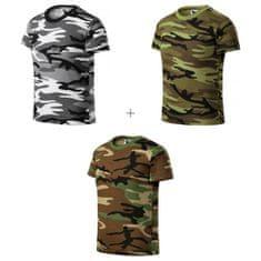 Malfini 3x Dětské tričko maskáčové (Camouflage gray + Camouflge green + Camouflage brown)