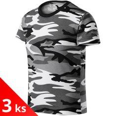 Malfini 3x Camouflage gray Dětské tričko maskáčové