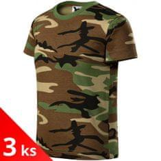 Malfini 3x Camouflage brown Dětské tričko maskáčové