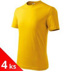 Malfini 4x Žluté Dětské tričko klasické