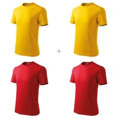 Malfini 4x Dětské tričko klasické (Žluté + Žluté + Červené + Červené)
