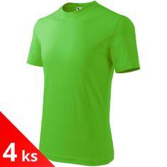 Malfini 4x Apple green Dětské tričko jednoduché