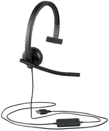 Logitech H570E mono slušalka z mikrofonom (981-000571)