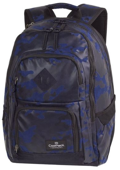 CoolPack Školní batoh Flock Camo modrý