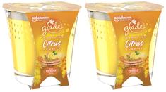 Glade 2 x svijeća Citrus Sunrise, 129 g