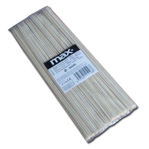 Maxpack Špejle hrocené bambusové W005 - 30cm x 3mm - 200ks