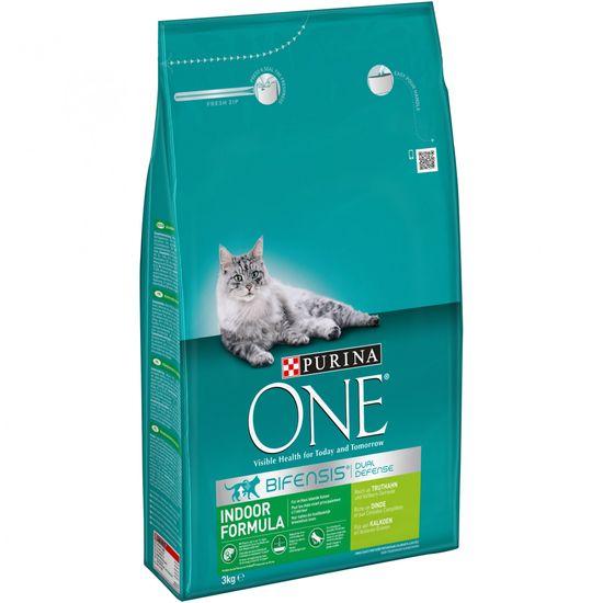 Purina ONE s puranom - za mačke, ki živijo v stanovanju, 3 kg