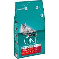 Purina ONE z govedino za kastrirane mačke, 3 kg