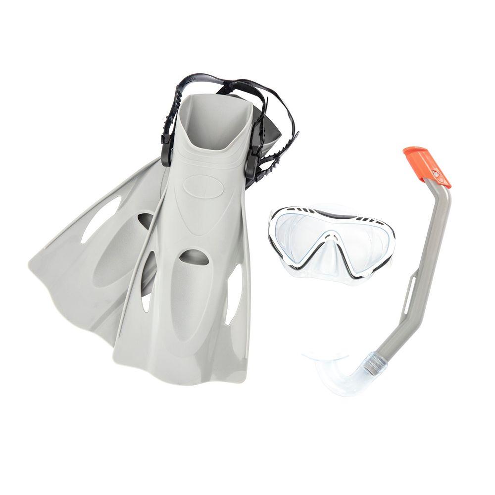 Bestway potápěčský set Hydro Swim 25025 s ploutvemi - šedý