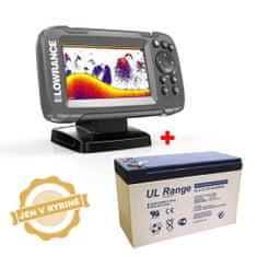 Lowrance Akce Lowrance Echolot HOOK2 4x GPS se Sondou Bullet Skimmer + baterie zdarma