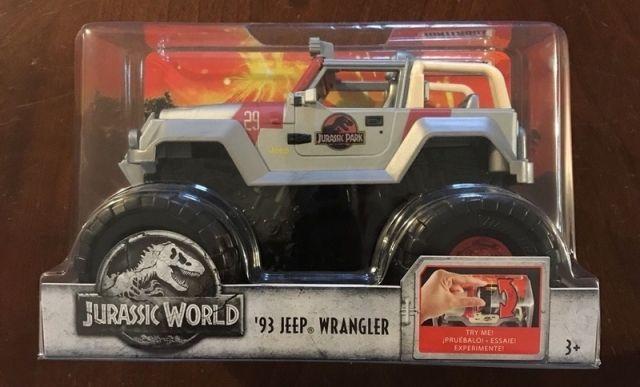 Mattel Jeep Wrangler Jurský svět 1:24