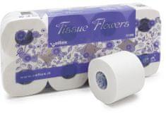 Celtex Toaletní papír Flowers 3vrstvy 250 útržků bílý 8ks - 11200