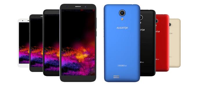 Aligator S5520 Duo, 1GB/16GB, zlatý - použité