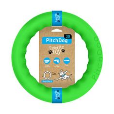 Pitch Dog Edzőgyűrű kutyáknak, zöld, 28 cm