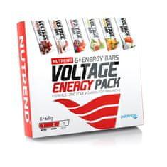 Nutrend Voltage Energy Bar dárkové balení 6×65g