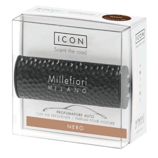 Millefiori Milano ICON vůně do auta Nero, dekor Metal Shades 47 g