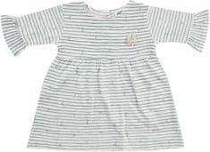 JACKY dievčenské šaty s dlhým rukávom 62 biele