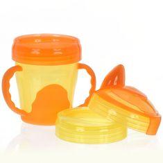 Vital Baby Dětský výukový 3 dílný hrnek, oranžový