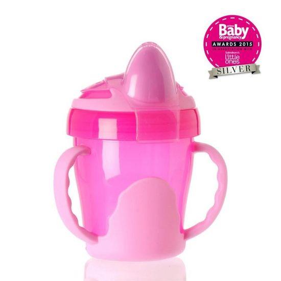 Vital Baby Detský výučbový hrnček 200 ml, ružový