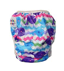 GaGa's pleny Plenkové plavky pro kojence a batolata Barevná velryba