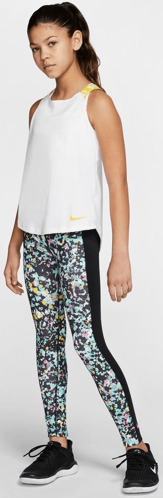 Nike dívčí top NK DRY TANK ELASTIKA M bílá