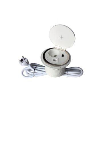 IN Zapuštěná lišta,zásuvka, Qi nabíjení,USB