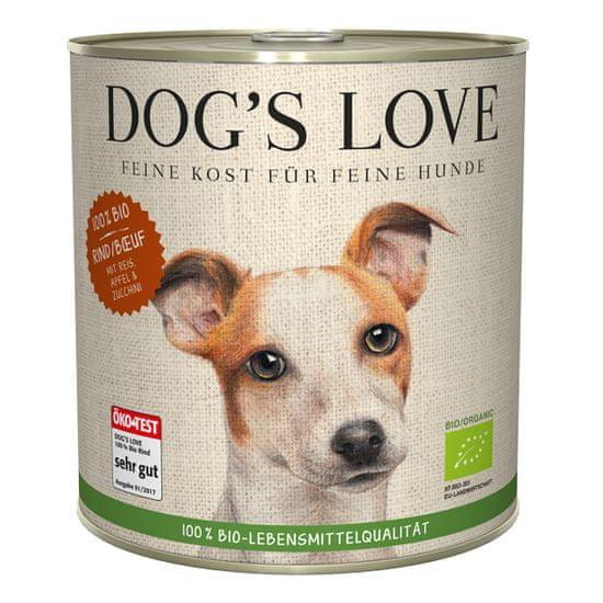 Dog's Love 100 % BIO Organic konzerva za pse, goveje meso, 800 g