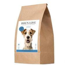 Dog's Love szárazeledel Adult, lazac, 12 kg