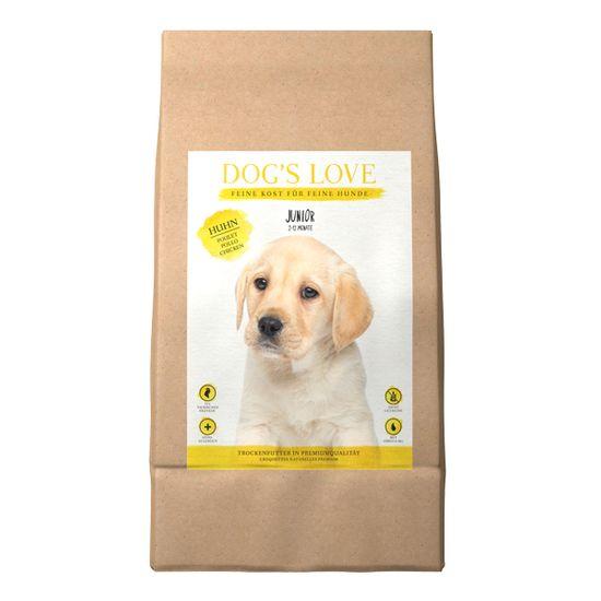 Dog's Love Junior pasji briketi za mladiče, s piščancem, 12 kg