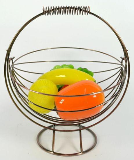 DUE ESSE Závěsný košík na ovoce 30 × 33 cm, BRONZE
