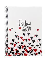 Muflon spiralni zvezek Follow your heart, A5