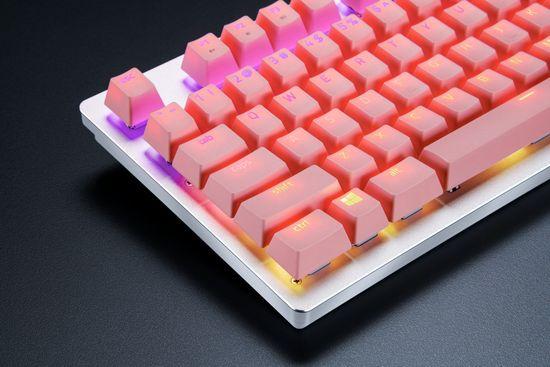 Razer komplet tipk PBT Keycap Upgrade Set - Razer Quartz Pink, roza (RC21-01490300-R3M1)