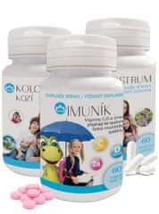 Novax  Balíček na imunitu nejen pro děti (2x Kolostrum kozí 2x60 tobolek + Imuník 60 tablet)