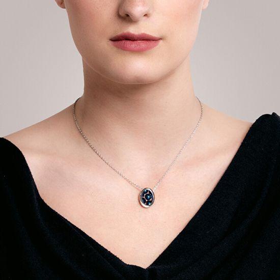 Preciosa Svetleča jeklena obesek ogrlica Idared 7361 46