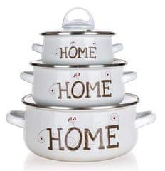 Banquet Sada smaltovaného nádobí HOME Coll., 6 ks