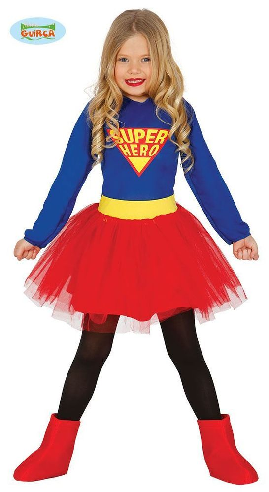 Dětský kostým Superhero - Superhrdinka - holka - velikost - 3-4 roky