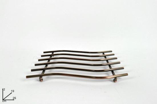 DUE ESSE Podložka pod horký hrnec 26 × 19 cm, BRONZE