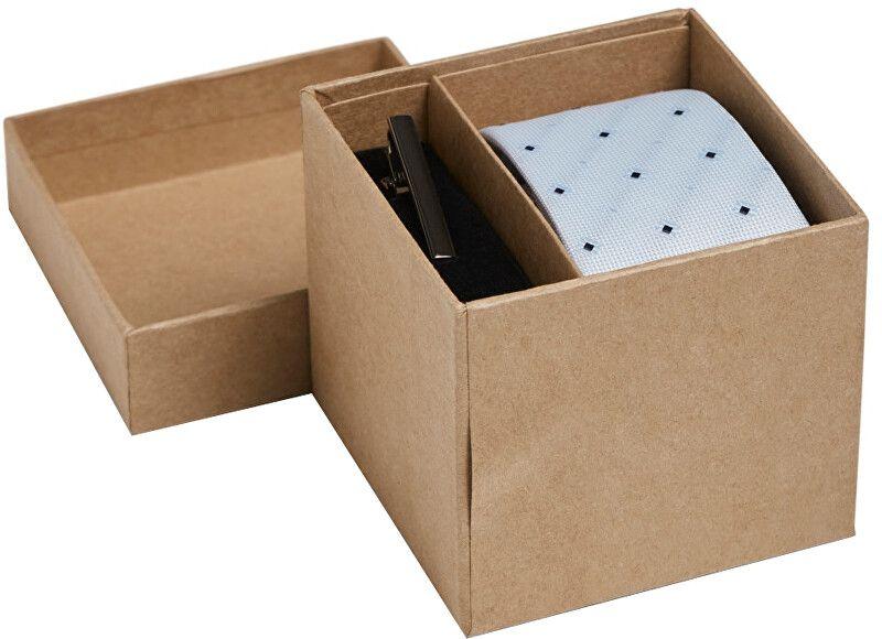 Jack&Jones Dárková sada JACCONNOR TIE BOX Cashmere Blue Mini