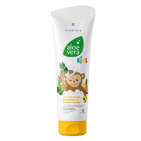 LR Health & Beauty LR Aloe Vera Kids Care 3v1 Šampon, kondicionér & sprchový gel 250 ml