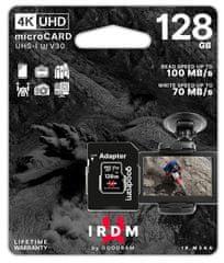GoodRam MicroSDXC pomnilniška kartica + SD adapter, 128 GB, UHS-I U3, 4K V30