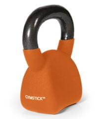 Gymstick Ergo Kettlebell utež, 8 kg, oranžna
