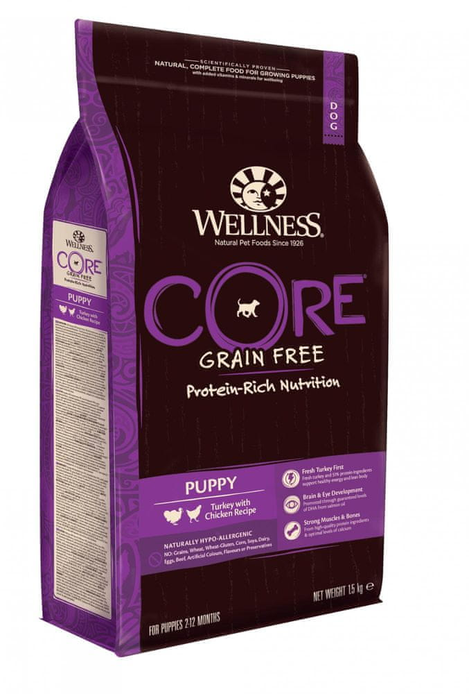 WELLNESS-CORE Puppy Turkey with Chicken Recipe 1,5 kg