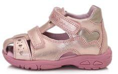 D-D-step lány nyári cipő AC290-497, 19, rózsaszín