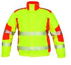 Cerva Zimní reflexní Hi-Vis bunda Trila Pilot s membránou žlutá/oranžová XL