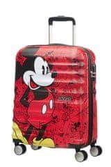 American Tourister AT Dětský kufr Wavebreaker Disney Spinner 55/20 Cabin Mickey Comics Red