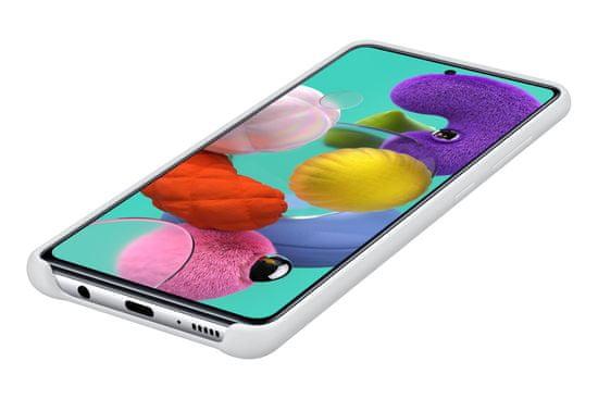 Samsung Galaxy A51 ovitek, silikonski, bel