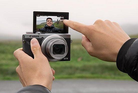Canon G7X III Vlogger Kit digitalni fotoaparat + stojalo + SD (64 GB)