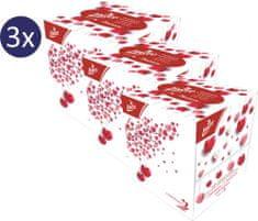 LINTEO Papierové vreckovky 3x 60 ks BOX, 3 vrstvové s balzamom, LOVE