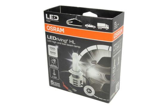 Osram Žárovka typ LEDriving HL H7, 12/24V, 14W, krabička, 2ks, pro dálková a potkávací světla