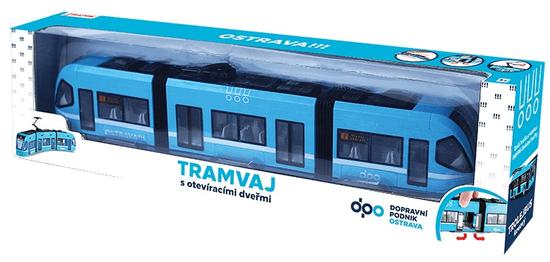 Rappa Moderná električka DPO Ostrava modra, 47 cm